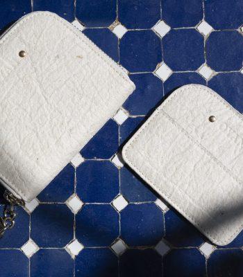 Portefeuille et porte-cartes OYAN natural sur mosaique
